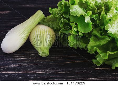 Green Salad And Onion