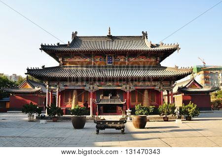 Hohhot, China - October 1, 2012: Da Zhou Temple In Hohhot, Da Zhou Temple Is The Oldest Building And