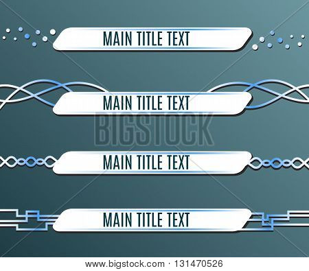 Set of blue banners lower third. Vector illustration