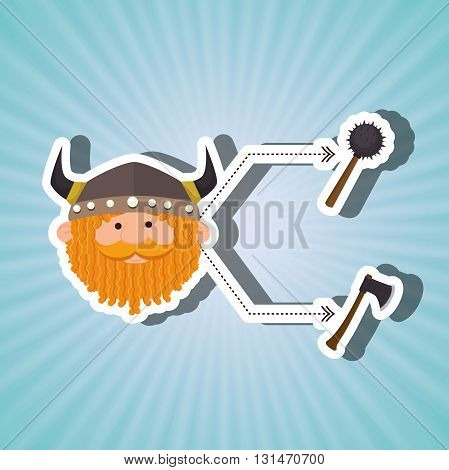 ancient warrior design, vector illustration eps10 graphic