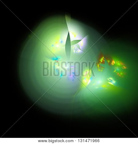 Mist and eyes. Cosmic mind. Mysterious psychedelic relaxation wallpaper. Fractal abstract pattern. Digital artwork creative graphic design.