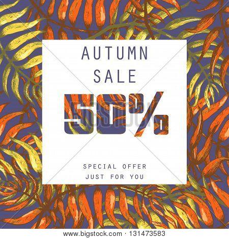 Vector Illustration of Summer sale for Design, Website, Background, Banner. Element Template