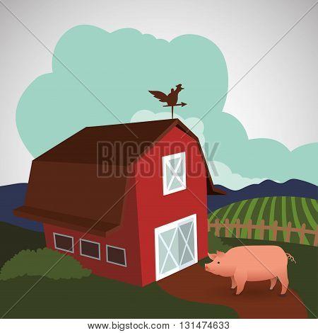 Farm concept with icon design, vector illustration 10 eps graphic.