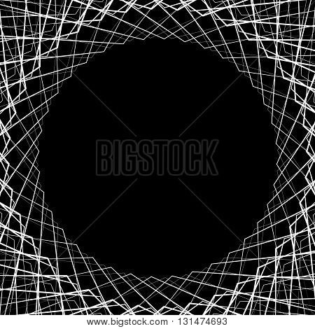 Abstract Geometric Background, Pattern With Space In Center. Can Be Used As A Frame.