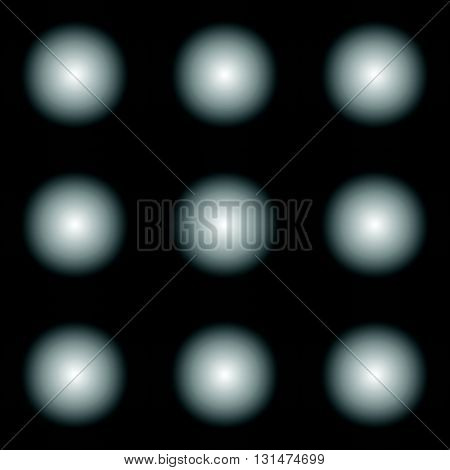 Simple Seamless Pattern With Fading Circles. Monochrome Background.