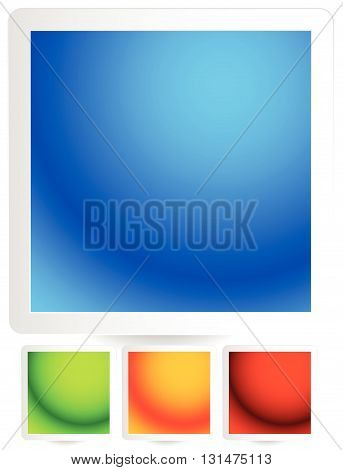 Bright, Colorful Button, Badge, Pin Backgrounds With Borders
