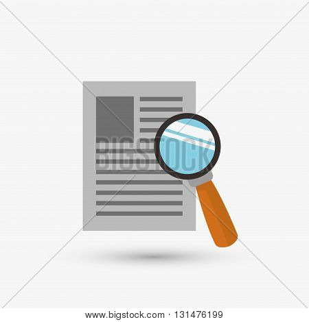 Document concept with icon design, vector illustration 10 eps graphic.