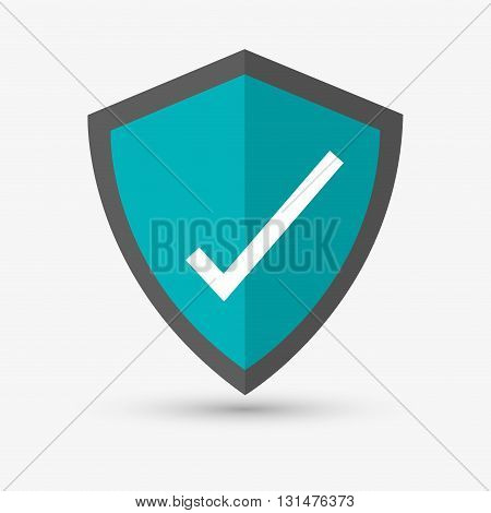 Check mark concept with icon design, vector illustration 10 eps graphic.