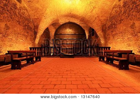 Shot of a wine cellar.