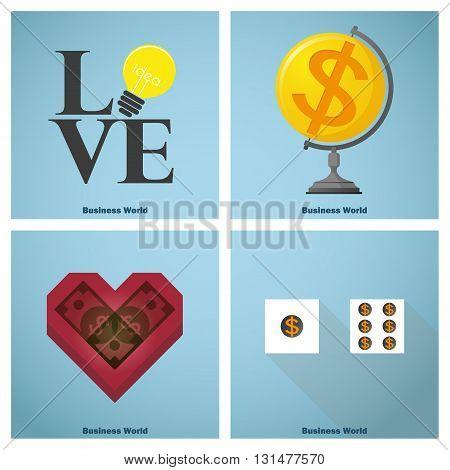 Business concept Idea Artwork business world ,vector,illustration