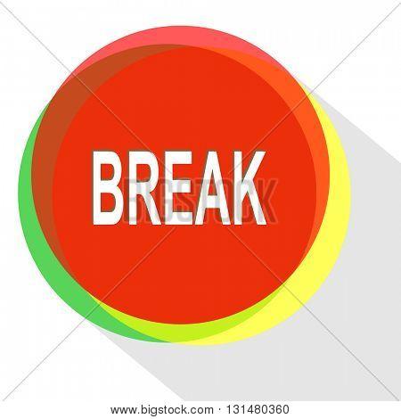 break. Internet template. Vector icon.