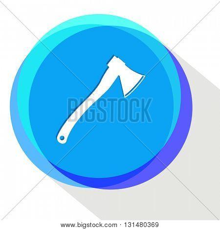 axe. Internet template. Vector icon.
