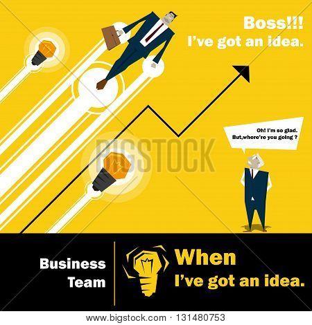 Business Idea series Business Team 3 concept,vector,illustration