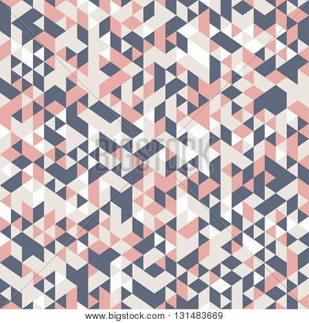 seamless pattern with chaotic triangle ornament