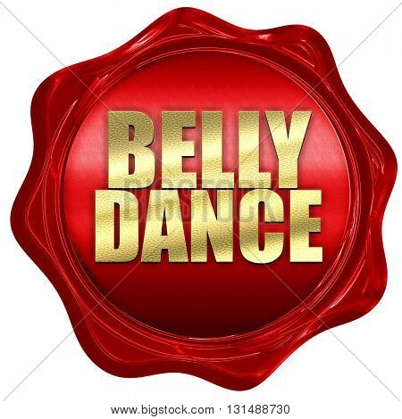 belly dance, 3D rendering, a red wax seal