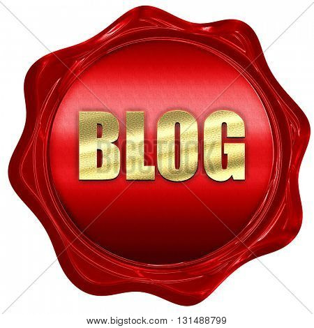blog, 3D rendering, a red wax seal