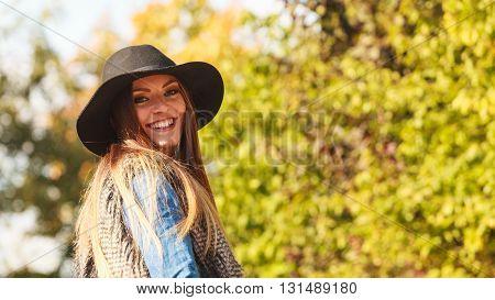 Cheerful Woman Having Fun Outdoors