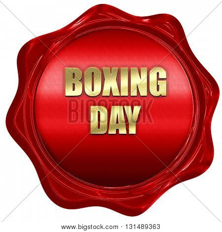 boxing day, 3D rendering, a red wax seal