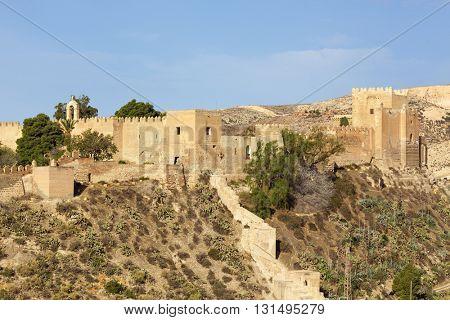 Alcazaba, moorish fortress at Almeria, Spain