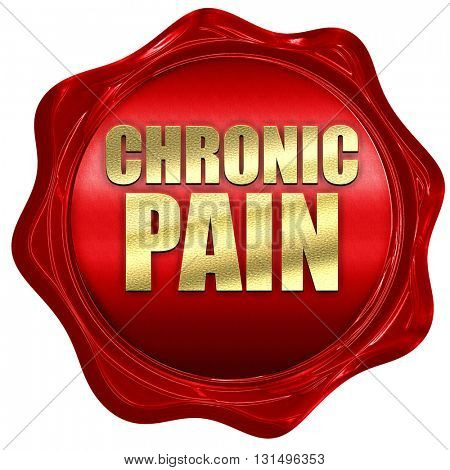 chronic pain, 3D rendering, a red wax seal