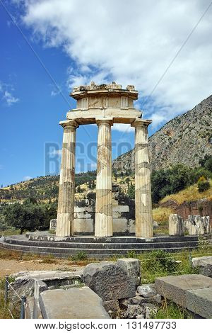 Athena Pronaia Sanctuary at Delphi, Central Greece