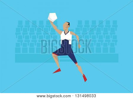 Illustration Of Male Basketball Player Competing In Event