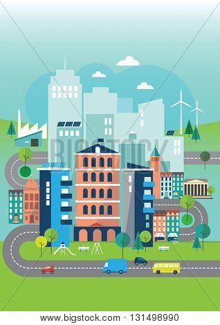 Illustration Of Environmental Eco City