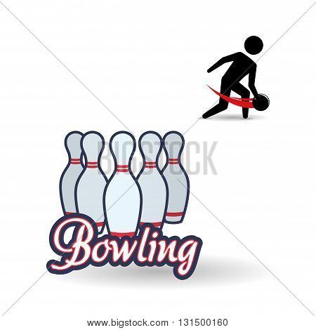 Bowling concept with icon design, vector illustration 10 eps graphic.