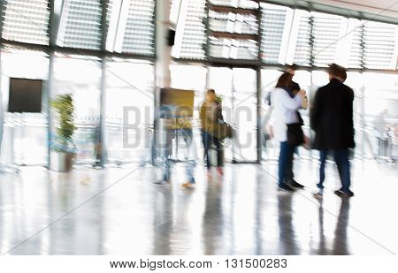Walking people blur background, Modern life concept