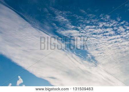 Cirrocumulus clouds clouds and blue sky natural background