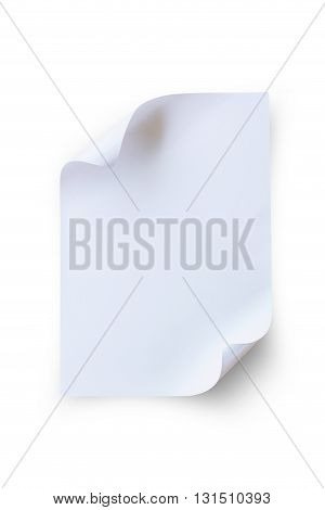 close up note paper isolated on white background. File contains a clipping path.