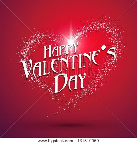 Heart-shaped light dots Valentine's Day greeting cards available.