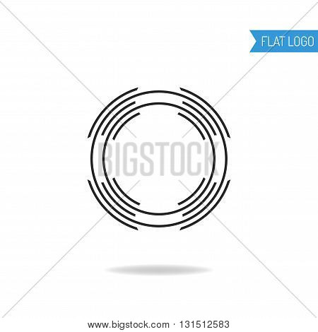 Business, technical and engineering logo for company. Circle logotype. Vector illustration