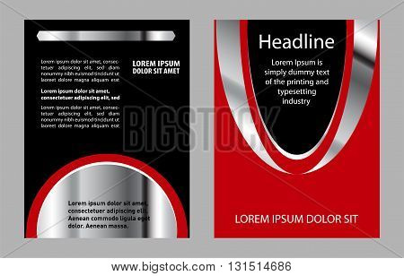 Flyer, leaflet, booklet layout. design template abstract
