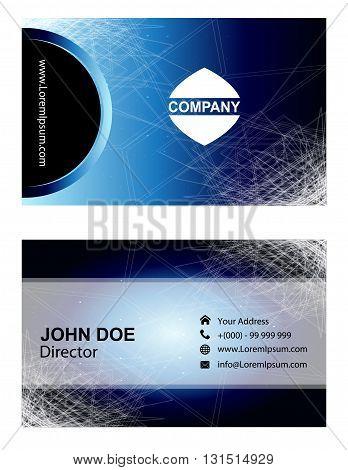 Business Card design set. Business Card Template