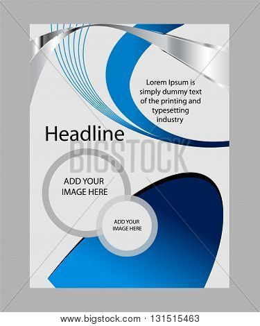 corporate business brochure design. Abstract for text,Vector flyer