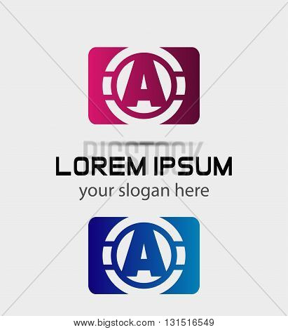 Vector graphic elegant font symbol alphabet Letter A icon
