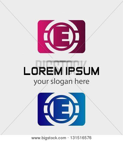 Vector graphic elegant font symbol alphabet Letter e icon