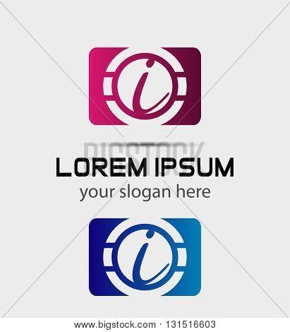 Vector graphic elegant font symbol alphabet Letter i icon