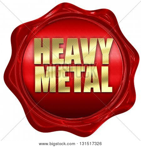 heavy metal music, 3D rendering, a red wax seal