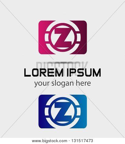 Alphabet icon - z. Vector design template elements