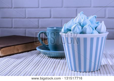 Blue Sweets And Cup