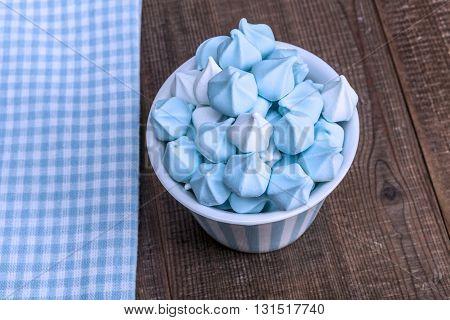 Blue Stuff On Table