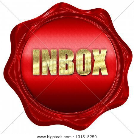 inbox, 3D rendering, a red wax seal