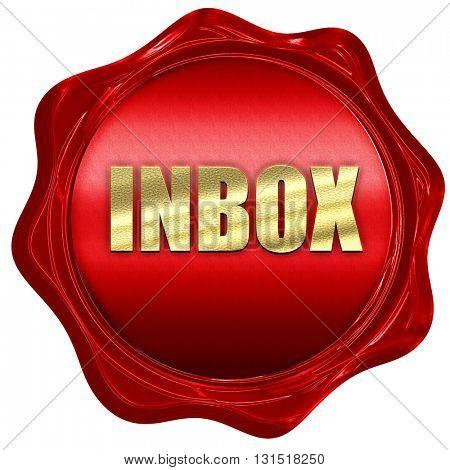 inbox, 3D rendering, a red wax seal