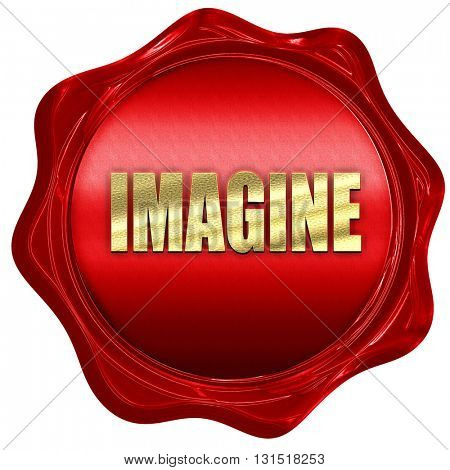 imagine, 3D rendering, a red wax seal