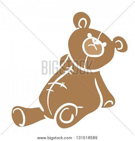 bear toy cartoon illustration