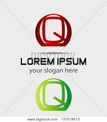 Letter q logo icon. Vector design template elements