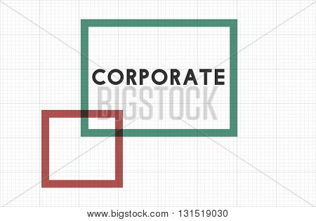 Corporate Business Organization Team Corporation Concept