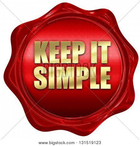 keep it simple, 3D rendering, a red wax seal